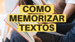 COMO MEMORIZAR TEXTOS