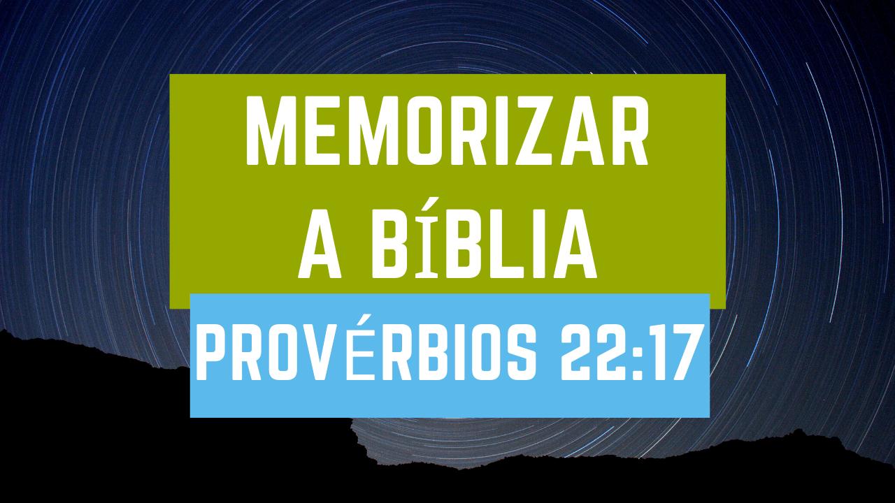como memorizar a bíblia