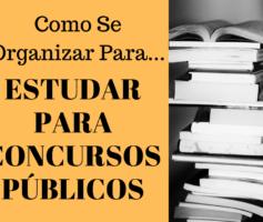 Como Se Organizar Para Estudar Para Concursos Públicos?