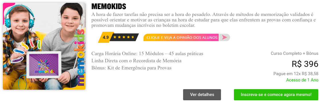 curso memokids login